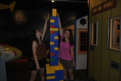Some days, it's just the right day to go to the Children's Museum and build a tower out of plastic blocks.