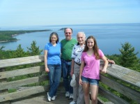 Some of my family and I climbed Mt. Sugarloaf, on the shore of Lake Superior.