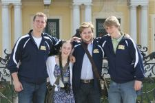 March: In Vienna at Schoenbrunn Palace with my friends Brett, Adam and Nick.